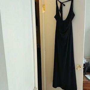 Fredericks size large maxi dress with fringe